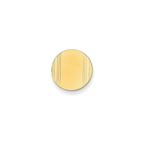 14k Yellow Gold Circular Tie Tac with Detailed Edges by CoutureJewelers