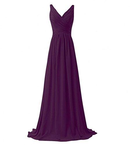 A Partykleider ausschnitt Lang Bride Milano Traube traeger linie Zwei Einfach V Rock Abendkleider Brautjungfernkleider vqvz0t
