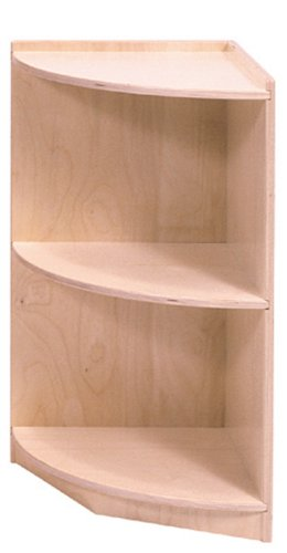 Steffy Wood Products 30-Inch Curved End Storage