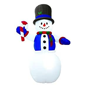 Giant 12 39 tall lighted snowman airblown for Amazon christmas lawn decorations