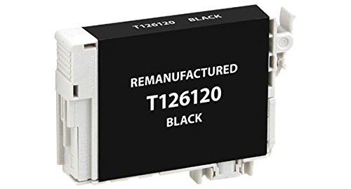 520 Black Inkjet - Recreated Cartridges Epson T126120   Black Inkjet Cartridge 385 Pages for Epson Stylus NX330, NX430; Workforce 60, 435, 520, 545, 630, 633, 635, 645,