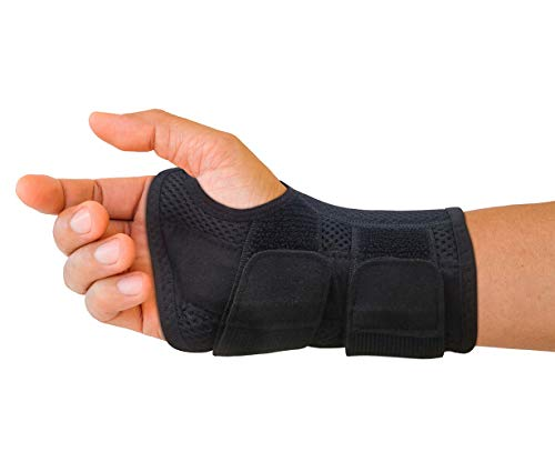 Carpal Tunnel Wrist Brace for Men and Women - Day and Night Therapy Support Splint for Relief of Arthritis, Wrists, Arm, Thumb and Hand Pain - Adjustable Straps (Right Hand - Small-Medium) (Best Night Wrist Brace For Carpal Tunnel)