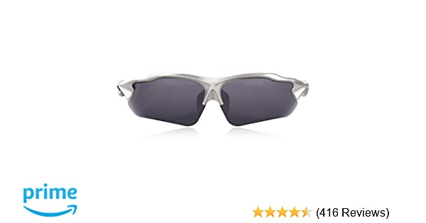 60547ecfdf Amazon.com   Hulislem Blade Ⅱ Sport Polarized Sunglasses (Gun-Smoke)    Sports   Outdoors