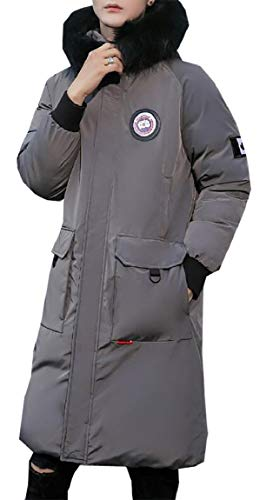 Long Winter security Outer Coat Grey Parka Long Duck Down Puffer Sleeve Mens Jacket qAxawxWUE