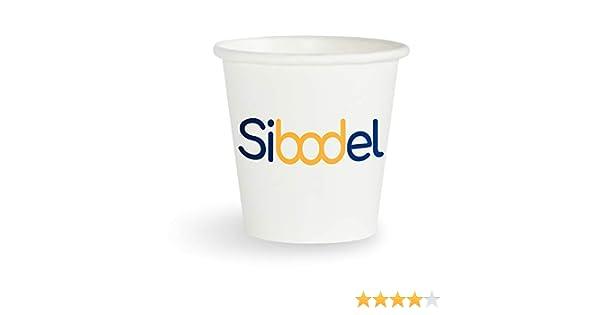 Sibodel - 100 Vasos de café Desechables de Papel Biodegradable ...