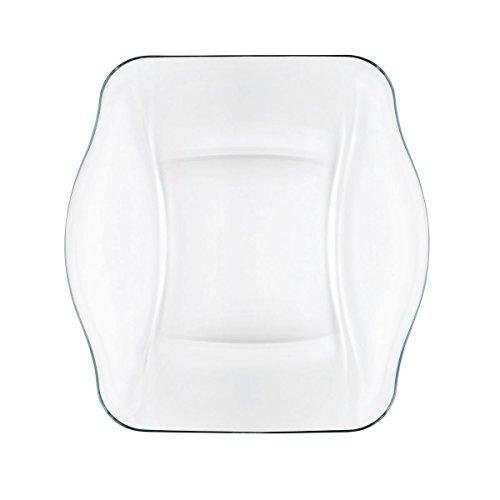 Bormioli Rocco Nettuno Dinner Plate, Clear, Set of 12