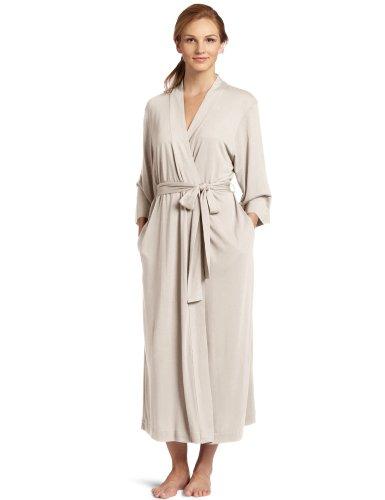 Cashmere Flannel (Natori Women's Shangri-la Solid Knit Robe, Cashmere, Medium)