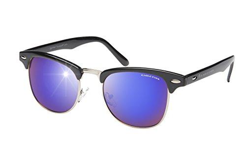 Eagle Eyes Hipster Polarized Sunglasses (Black, Indigo - Cheap Hipster Sunglasses