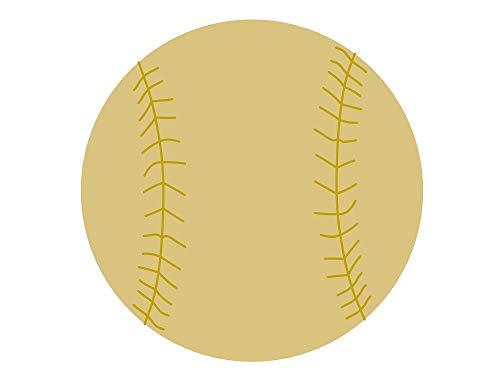 "Detailed Baseball Cutout Unfinished Wood Baseball Softball Sports MLB Major Little League MDF Shape Canvas Style 1 (6"")"
