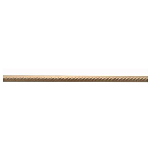 1 3/8''W x 3/4''P, 1 1/2'' Repeat, Molding Rope Trim, 8' Length, Red Oak by Enkeboll Designs