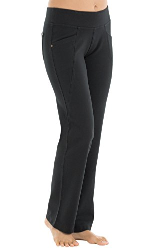 Spandex Stretch Sleep Pant (PajamaJeans Women's Straight Leg 4-Way Stretch Pants, Black, XXS (00))