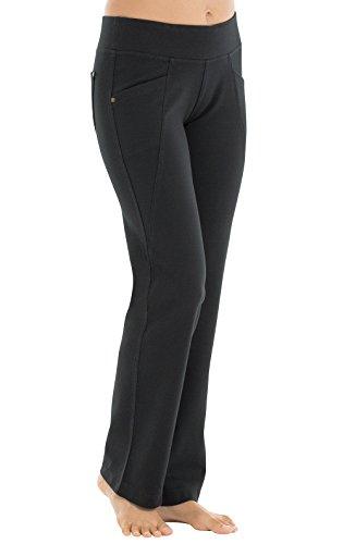 Spandex Stretch Sleep Pant (PajamaJeans Women's Straight Leg 4-Way Stretch Pants, Black, XXS (00))