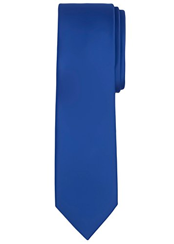 Jacob Alexander Men's Extra Long Solid Color Tie - Royal