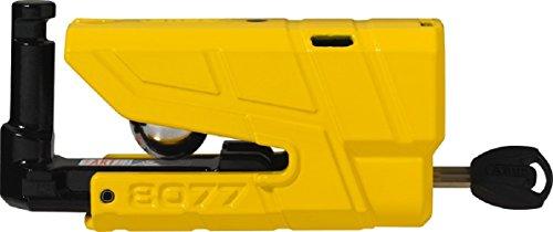 Abus Granit Detecto X-Plus 8077 Alarm Brake Disc Lock with 3D Position Detection, Security Level 18, Colour Yellow, 190025