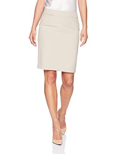 Calvin Klein Women's Petite Lux Straight Skirt, Khaki, 8P (Skirt Petite Womens)
