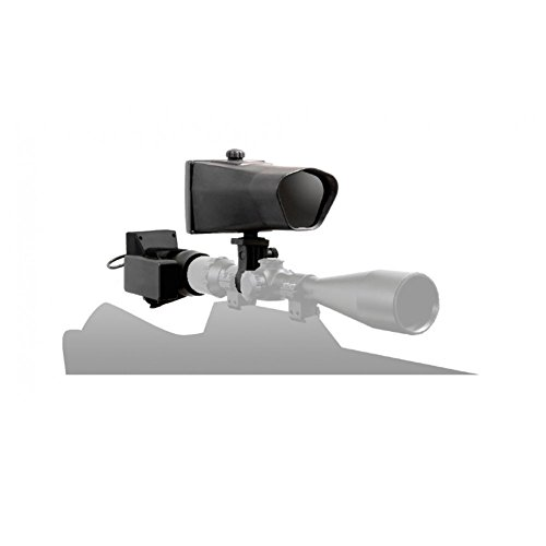 NiteSite Wolf RTEK 330 Yards Identification Range Scope Mounted Night Vision System for Hunting in Zero Light with Integral Recording and Sharing via Wi-Fi (Black, Full Kit) ()