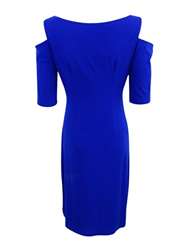 Petite Deep Women's Ruched Dress Cold Shoulder Connected Royal 6WCw1q55