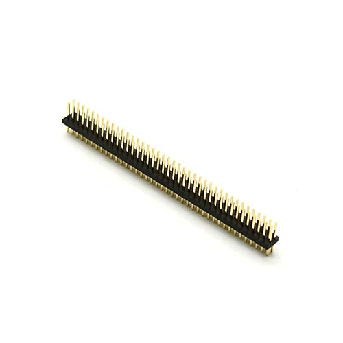 Davitu 2.54mm Single Double Row Male 140P 240p Gilt 0.8U 1U 3UBreakaway PCB Board Pin Header Connector Strip Pinheader - (Color: 1x40P 3U 5pcs)