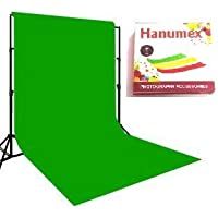 Hanumex Green BackDrop Background 8x12 Ft for Studio - Camera Accessory