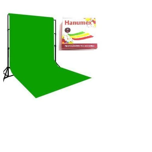 Hanumex Green BackDrop Background 8x12 Ft for Studio - Camera Accessory