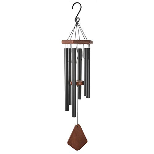 CHIMAERA Wind Chimes Indoor,30.7'' Aluminum Metal Hollow Tubes Tuned Soothing Musical Bell Sounds, Metal Wind Chimes for Home, Party, Garden Décor (Black) ()
