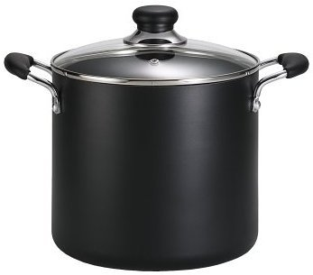 T-fal B36262 Specialty Total Nonstick Dishwasher Safe Oven Safe Stockpot Cookware, 12-Quart, Black