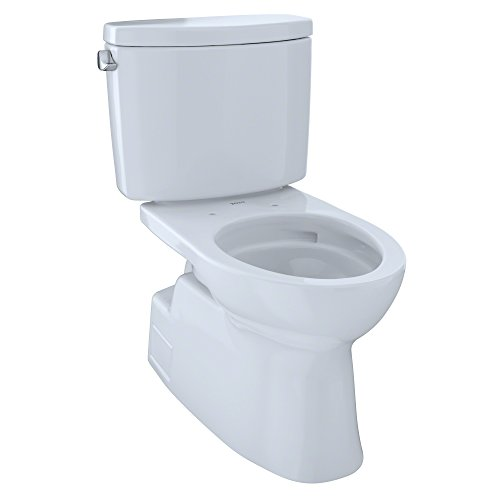 Toto CST474CEFGNo.01 Vespin II Two-Piece High-Efficiency Toilet, with SanaGloss, 1.28-GPF, Cotton ()