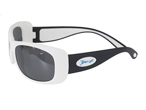BanZ Sunglasses for Juniors (6 to 10 Years, Black/White Flexerz) by - Sunglasses Junior Banz