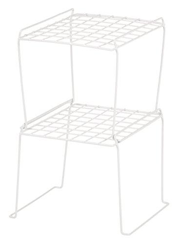 IRIS 8-inch Stackable Wire Locker Shelf, 4-pack, White by IRIS USA, Inc. (Image #1)