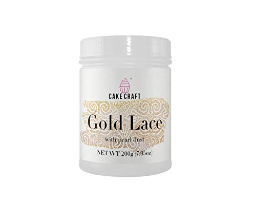 Cake Craft Gold Lace Cream 7.05 Ounces