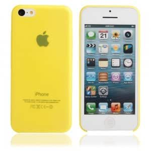 Ultra-thin ( 0.35mm ) Frosted Protective PC Case for iPhone 5C Yellow