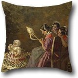 Oil Painting Giovanni Segantini - Bagpipers Of Brianza Pillow Covers ,best For Bedding,adults,lounge,office,dinning Room,her 18 X 18 Inches / 45 By 45 Cm(both Sides)
