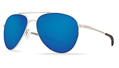 Costa Cook Sunglasses Brushed Palladium / Blue Mirror 580G & Cleaning Kit - Costa Cook