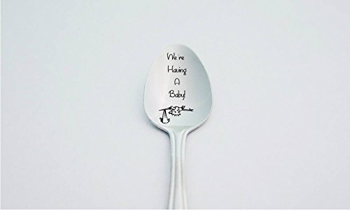 We're Having A Baby, We Are Pregnant, Pregnancy Announcement, Pregnancy Reveal, Engraved Spoon, Cute Announcement Idea