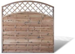 Valla de protección visual, valla protectora de jardín con arco doble