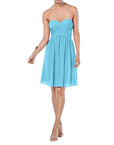Einfach La Linie Abendkleider Brautjungfernkleider mia Rock A Langes Brau Chiffon Partykleider Blau Festlichkleider 4xxqRTnw