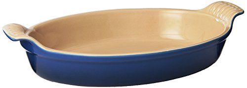 Le Creuset Heritage Stoneware Oval Au Gratin Dish, 1-Quart, Cherry