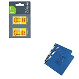 KITUNV15442UNV99005 - Value Kit - Universal Pressboard Hanging Data Binder (UNV15442) and Universal Arrow Page Flags (UNV99005)
