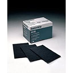 3M Scotch-Brite HP-HP Non-Woven Silicon Carbide Hand Pad - 6 in Width x 9 in Length - 16555 [PRICE is per BOX]