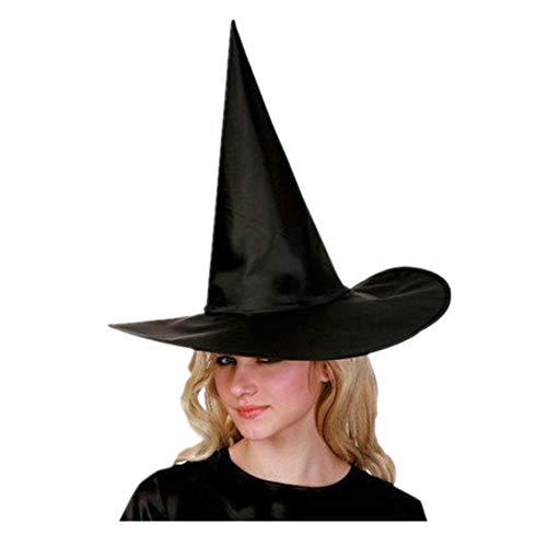 Anboo 6PCS/Set Adult Womens Halloween Costume Accessory Black Witch Hat Cap