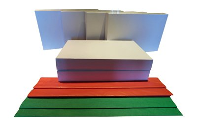 Gift Wrap Shirt Boxes (6 ) + 30 Sheets of Gifts Tissue (18) Red (12) Green 20in x 20in