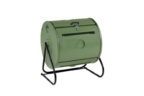 Mantis Easy Spin ComposTumbler CT09001 - Engineered to Make Compost Fast - Holds 37 Gallons - Low Cost per Gallon - Turns Easily - Fits Anywhere
