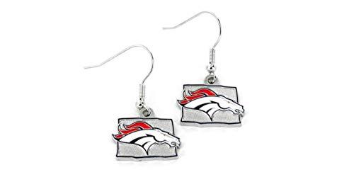 Denver Broncos Colorado State Design Logo Dangle Earrings