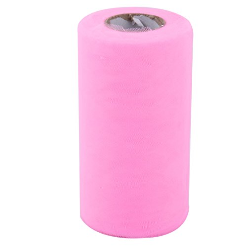 Pink uxcell Festival Inch Dress Gift Tulle Craft x Yards Spool 50 Ornament Roll Wrap Pink 6 rrdq6