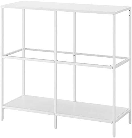 Estantería IKEA VITTSJÖ 100x36x93 cm blanco/vidrio: Amazon ...