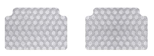 Rubber-Like Compound Custom Fit Auto Floor Mats for Select Infiniti Q60 Models Clear Intro-Tech IN-675R-RT-C Hexomat Second Row 2 pc