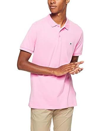 Calvin Klein Jeans Men's Pique Slim Fit Polo, Begonia Pink, S