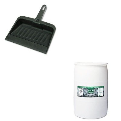 KITRCP2005CHASPG19055 - Value Kit - Simple Green All-Purpose Industrial Cleaner/Degreaser (SPG19055) and Rubbermaid-Chrome Heavy Duty Dust Pan (RCP2005CHA) by Simple Green