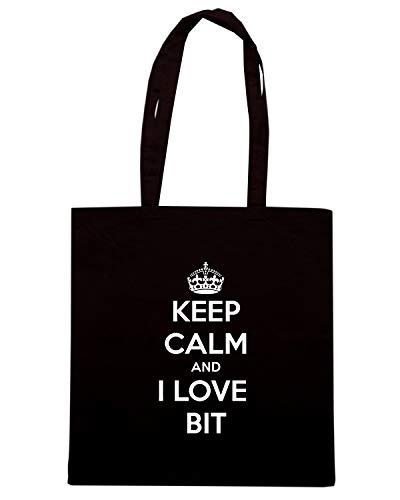LOVE AND Nera CALM KEEP BIT TKC0353 I Borsa Shopper W0q40z