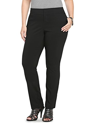 Straight Leg Pant - Black Deluxe Stretch (Regular)